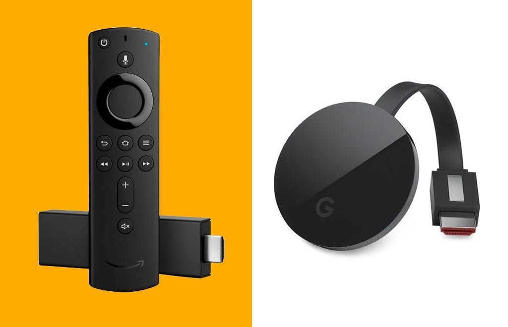 have YouTube on Fire TV and Prime Video on Chromecast