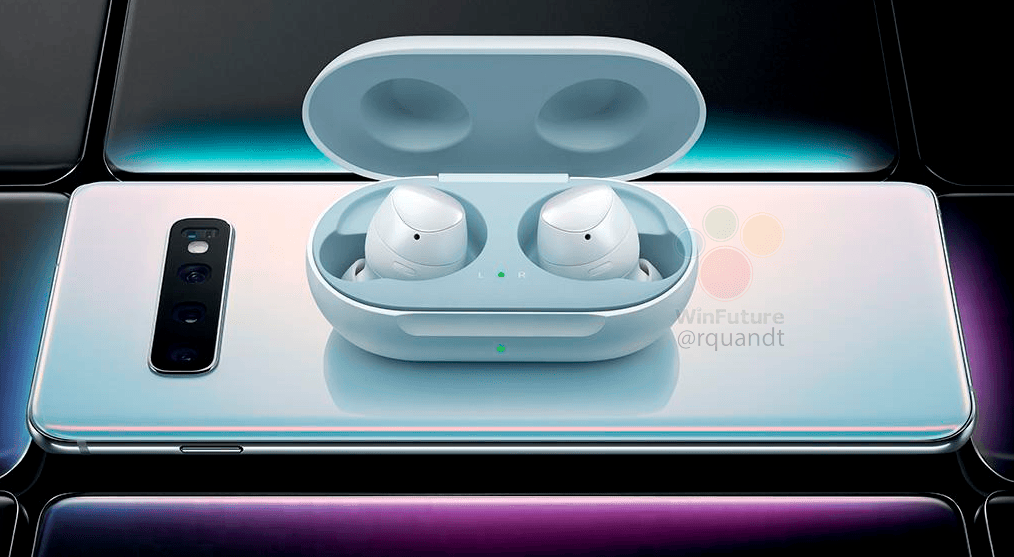 The Samsung Galaxy S10 wirelessly charge Galaxy Buds headphones
