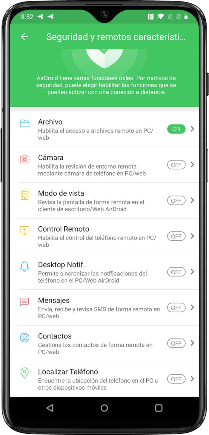AirDroid for Android, complete guide: how to synchronize and use your mobile from your computer remotely