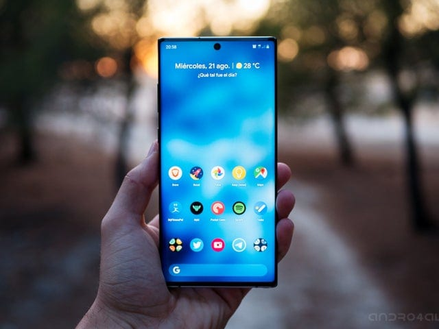 How to make a screenshot on the Samsung Galaxy Note10