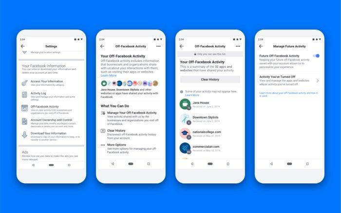 Off Facebook Activity, steps
