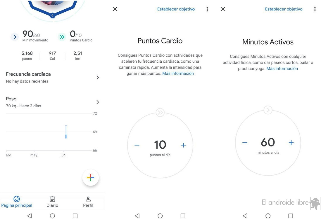 Modify Google Fit goals