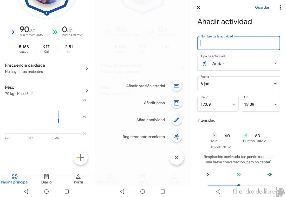 Add activity Google Fit