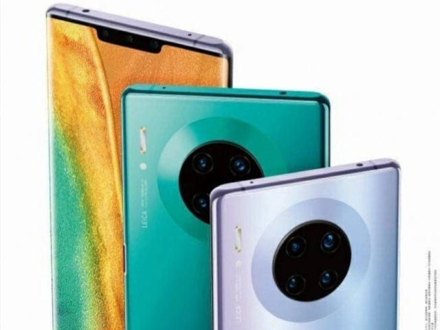 The possible final design of the Huawei Mate 30 Pro leaks into a promotional poster