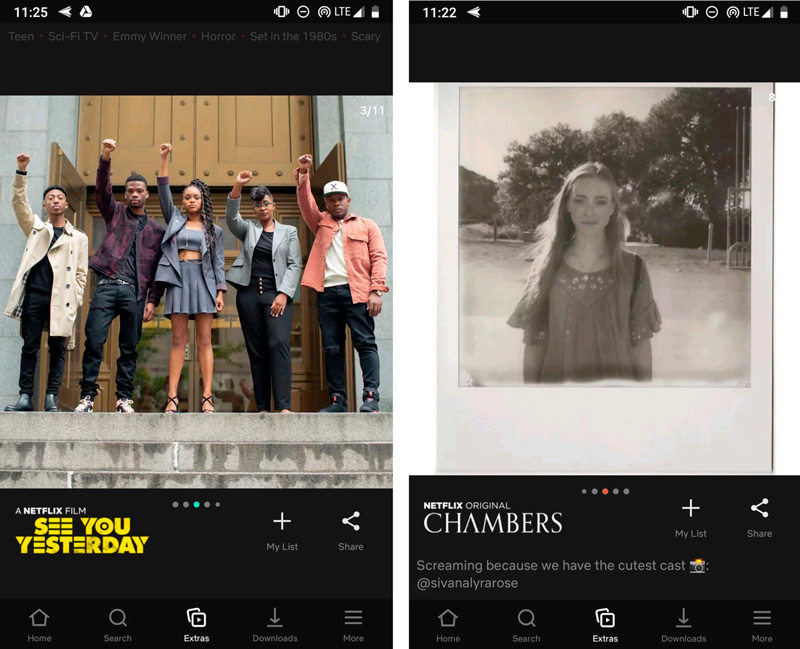 Netflix for Android is inspired by Instagram stories with two new features