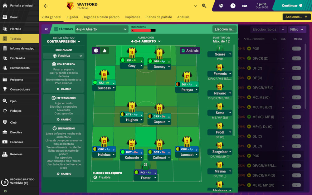 New versions of Football Manager
