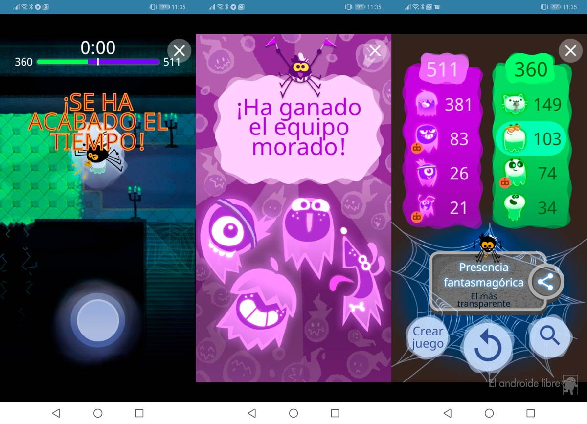 The Google game for Halloween is awesome: try it now!