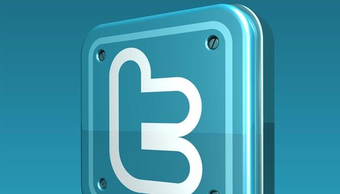Logotipo de Twitter con fondo azul