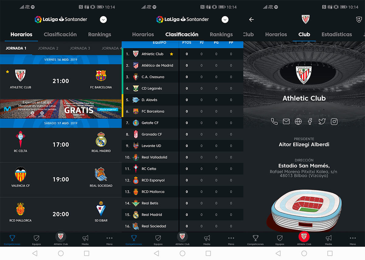 La Liga official app