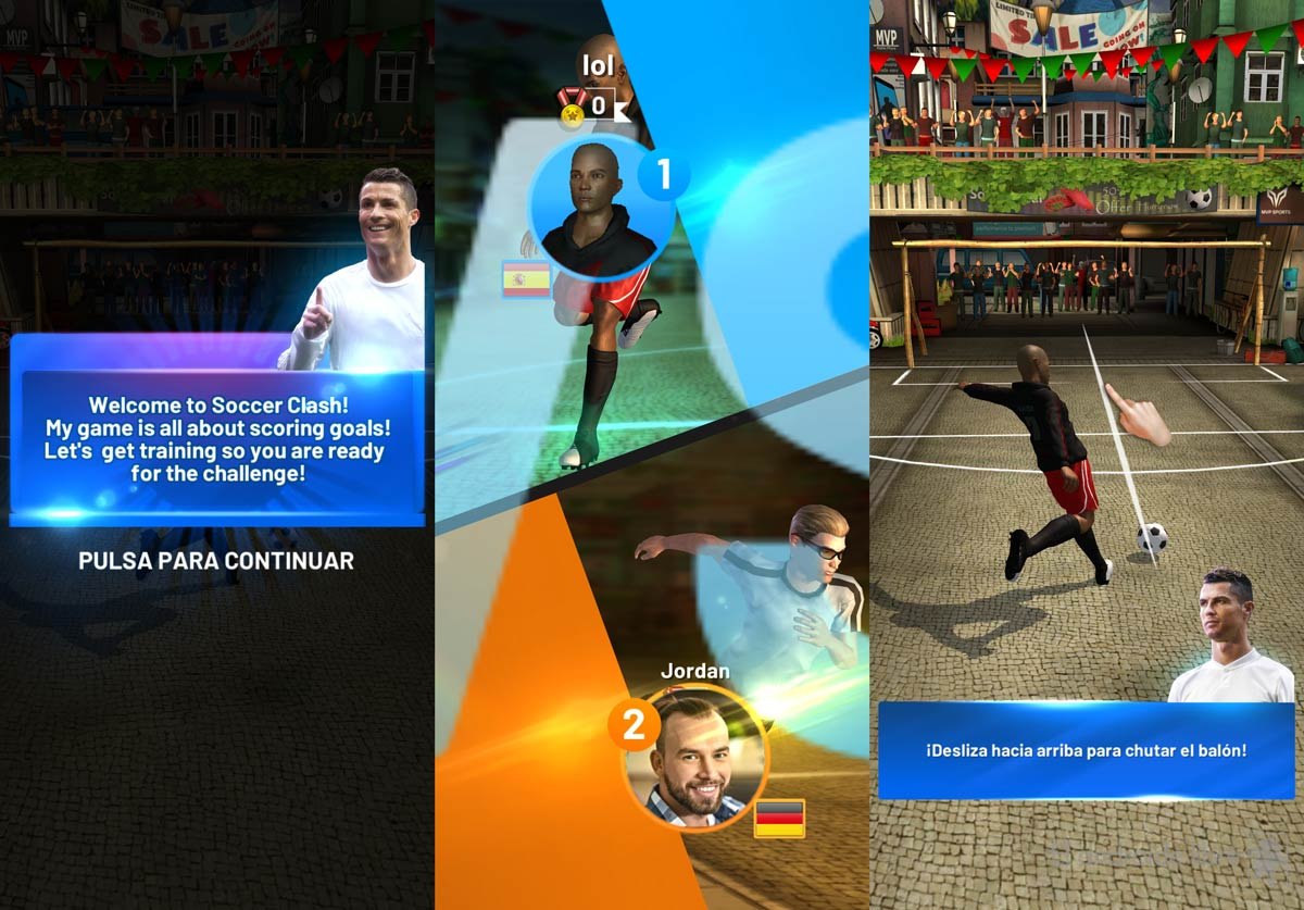 Cristiano Ronaldo and his new soccer game, download it for free