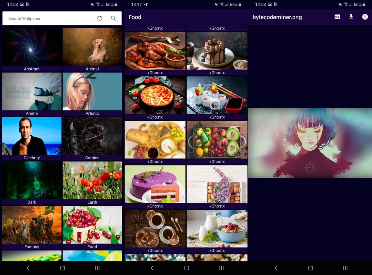 Download awesome HQ wallpapers from this new application