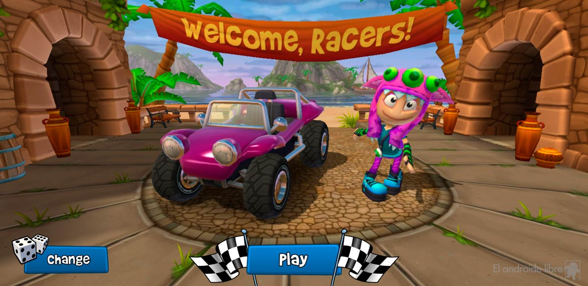 Download this great racing game with some air to Mario Kart