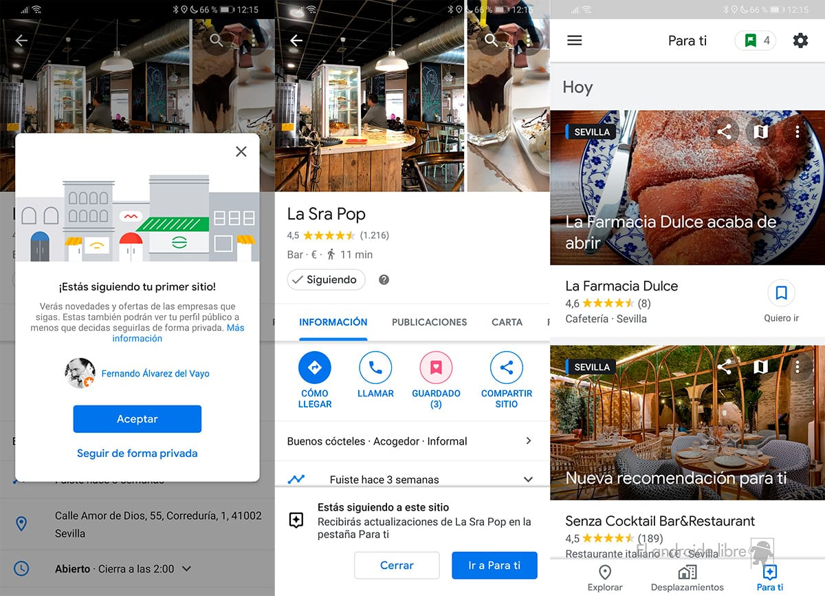 Google Maps gives you discounts for following your favorite locations