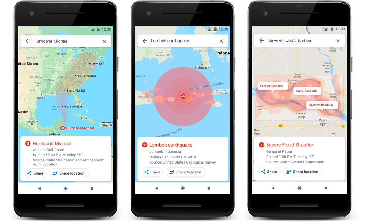 Google Maps will tell you how to avoid natural disasters