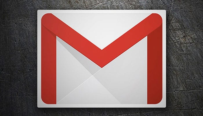 Gmail logo with black background