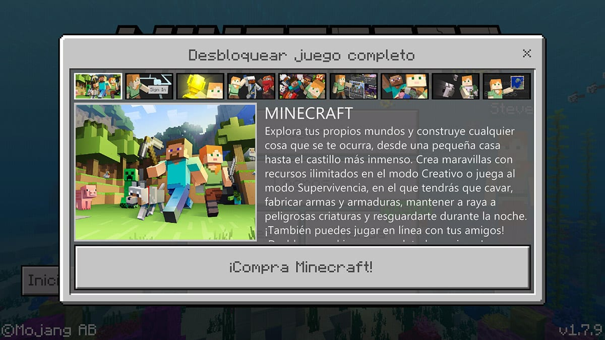 Minecraft for Android free with the new test application