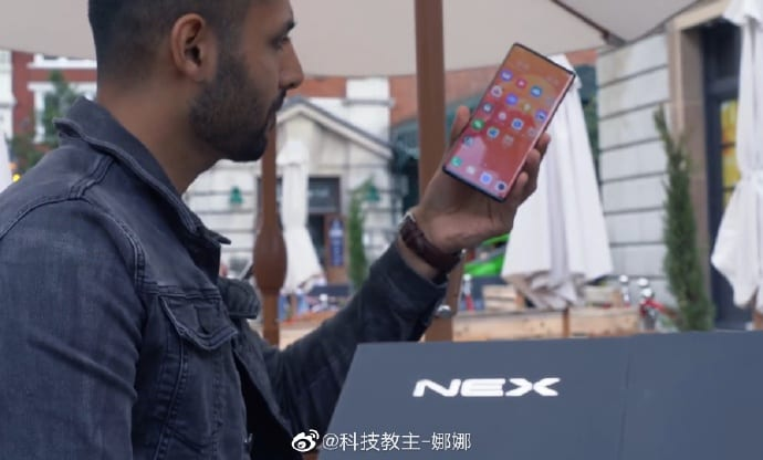The Vivo NEX 3 is shown closely in unboxing video »ERdC