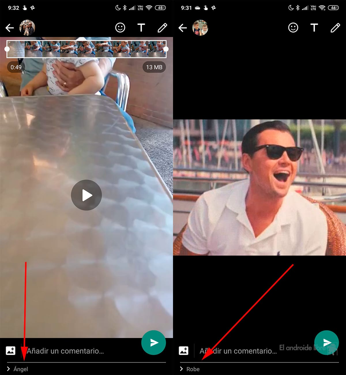 WhatsApp helps you not to make a mistake in contact when sending a photo