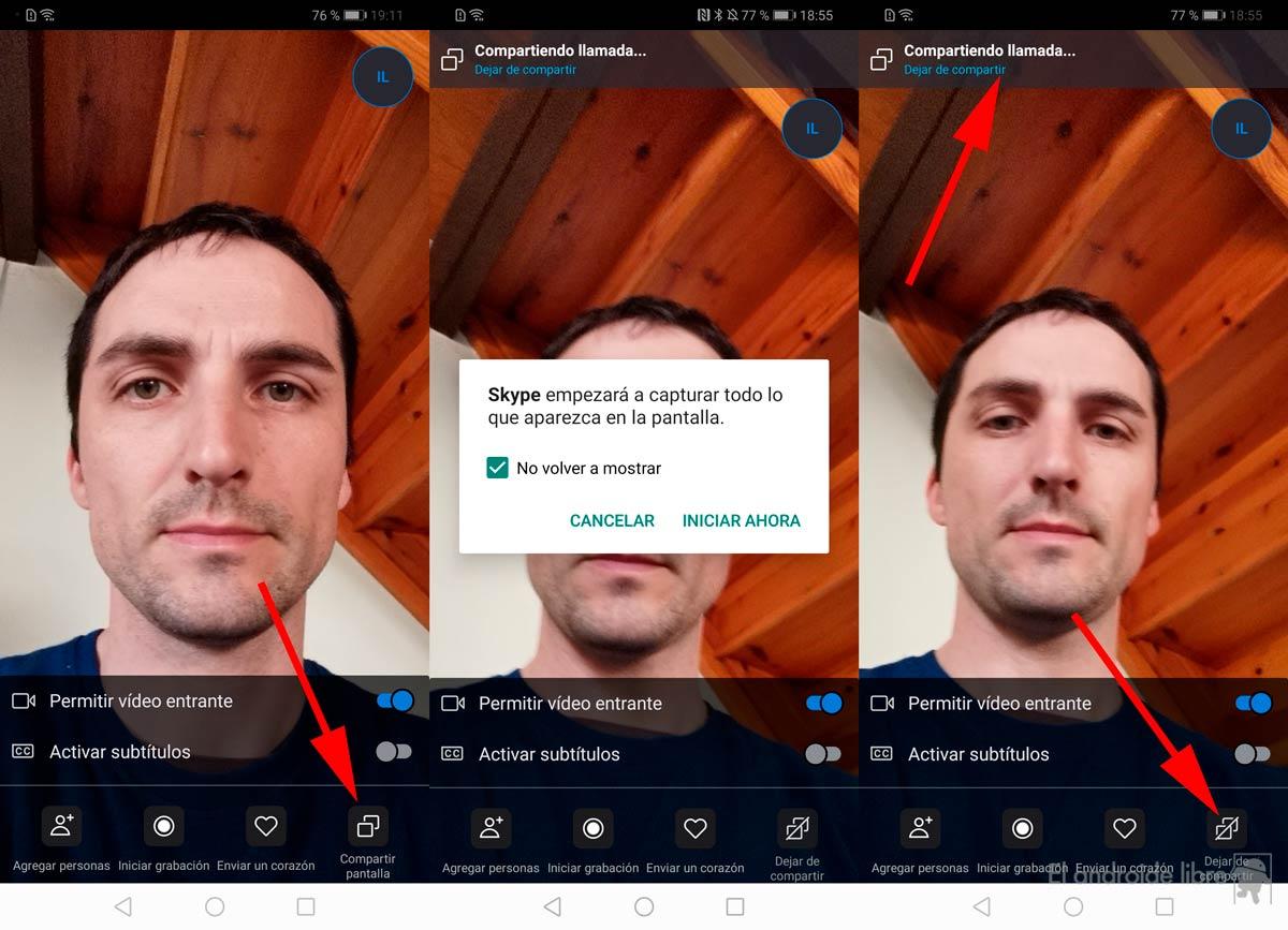 Share your Android screen with the new Skype