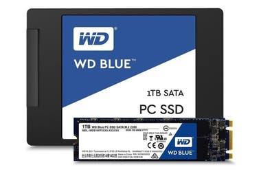 Most manufacturers offer units with Serial ATA connections (the same size as a notebook disk) or M.2 (a chip strip, more compact); in this case, Western Digital
