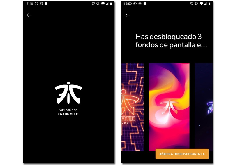 OnePlus Fnatic wallpaper mode