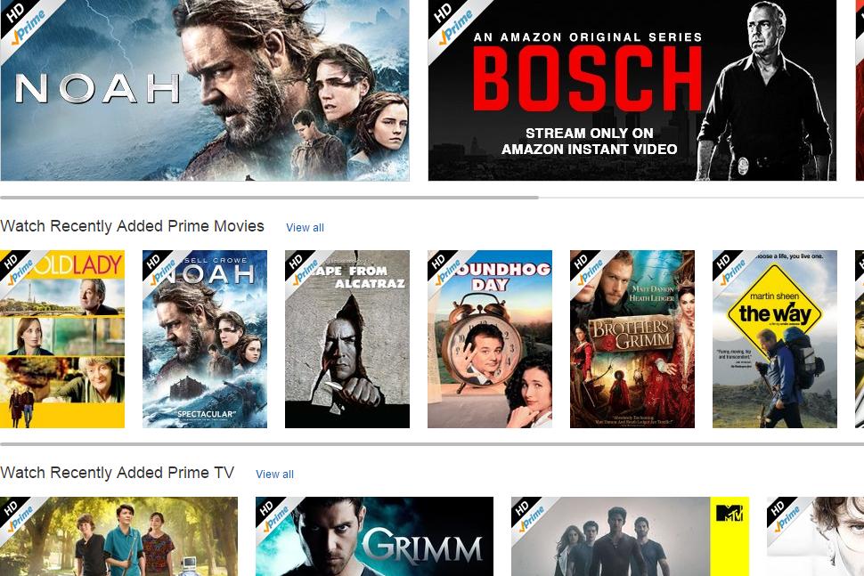 Amazon Prime Instant Video Browse