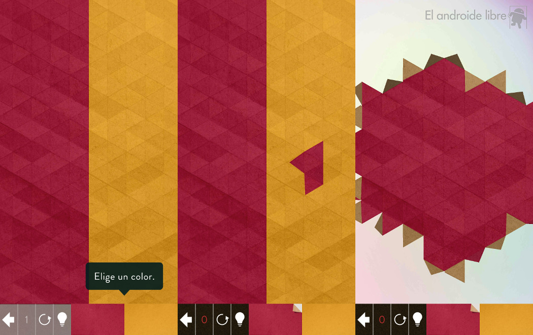 The puzzles and origami come together in this relaxing game