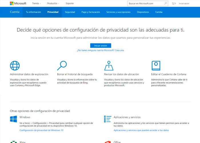 """privacy-microsoft """"width ="""" 700 """"height ="""" 500 """"class ="""" alignleft size-large wp-image-48700 """"srcset ="""" https://rootear.com/files/2017/01/privacy-microsoft.jpg 700w , https://rootear.com/files/2017/01/privacidad-microsoft-400x286.jpg 400w, https://rootear.com/files/2017/01/privacidad-microsoft-220x157.jpg 220w """"sizes ="""" (max-width: 700px) 100vw, 700px """"/></p> <p>Even if you don't believe it or even if you don't use a Windows phone, <strong>Microsoft records a lot of activity from you</strong>, like Google. This is only for advertising purposes and for other minor purposes, that is, as a general rule they will never use your data against you or for purposes that are not exclusively advertising. They do not have permissions to use your data commercially, for example, so you are calmer.</p><div class="""