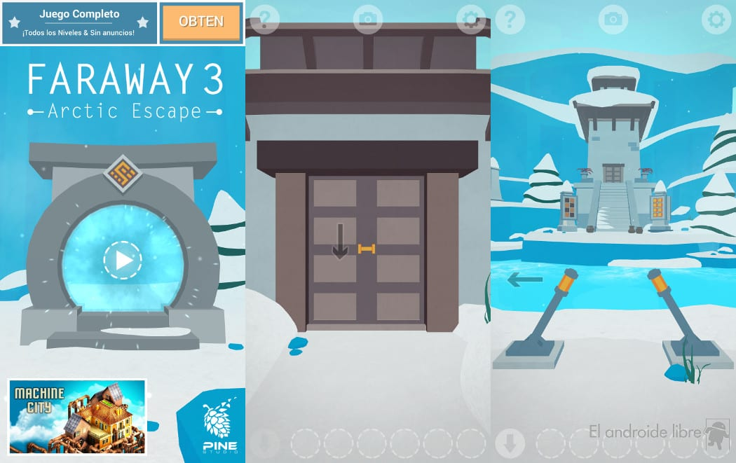 Escape this icy temple with your head and some ingenuity