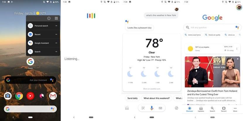 Google Assistant voice searches