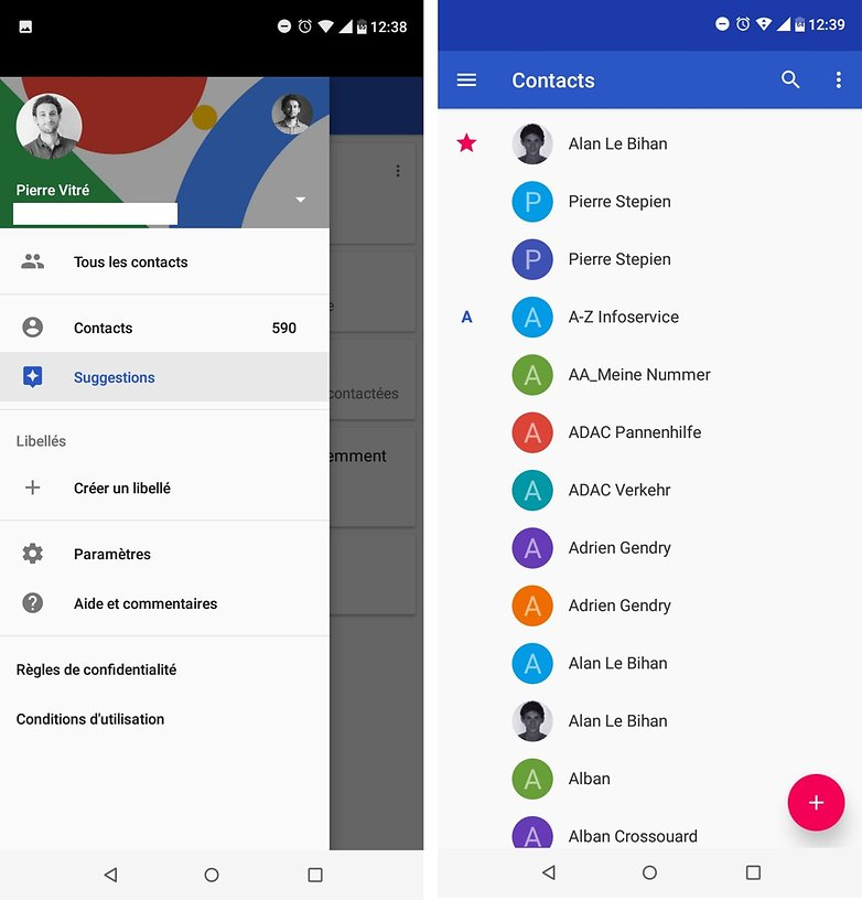androidpit FR contacts 2