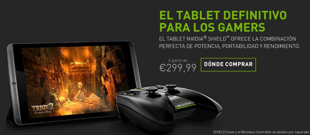 NVIDIA Shield Tablet ya disponible desde 299€