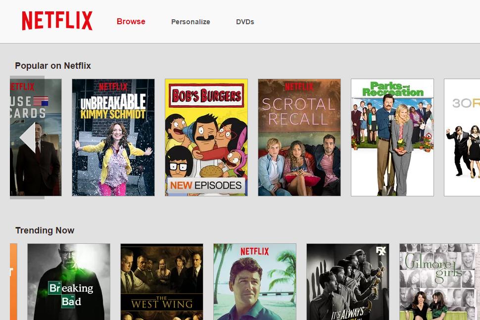 Netflix Browse Screen