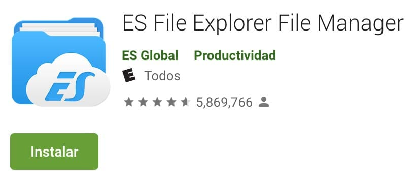 The popular ES File Manager expelled from Google Play for possible fraud