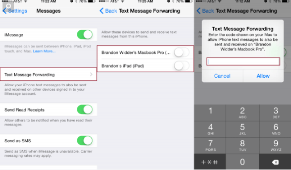 how to send text messages from the computer