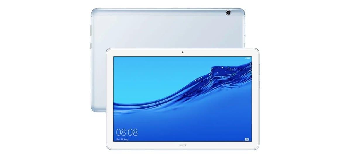 Huawei MediaPad T5 in Mist Blue color