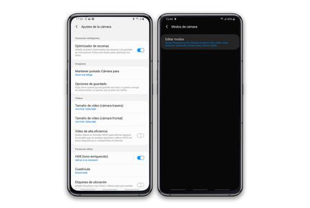 One UI app camera settings