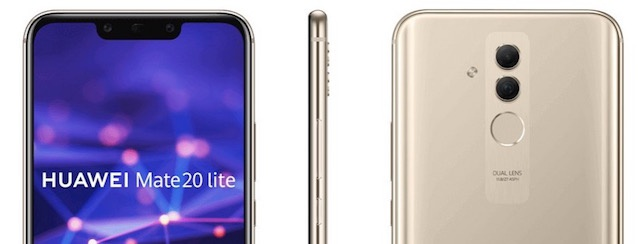 Front and back trim of Mate 20 lite