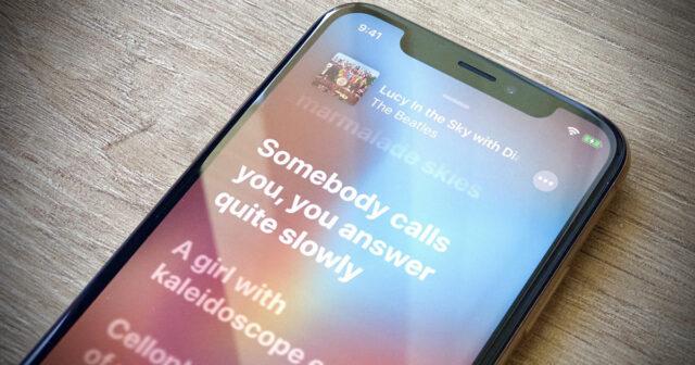 lyrics lyrics music iOS 13