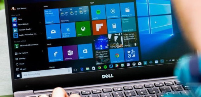 Dell laptop with Windows 10