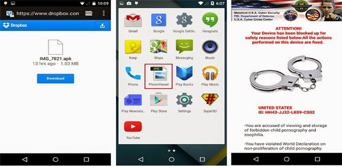 ramsonware android notice