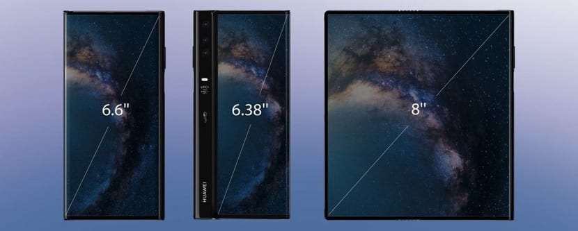 Huawei Mate X screens