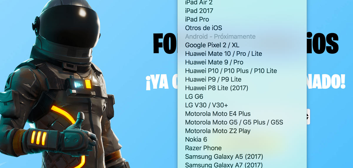 Fortnite for Android is not on Google Play, all apps are fake
