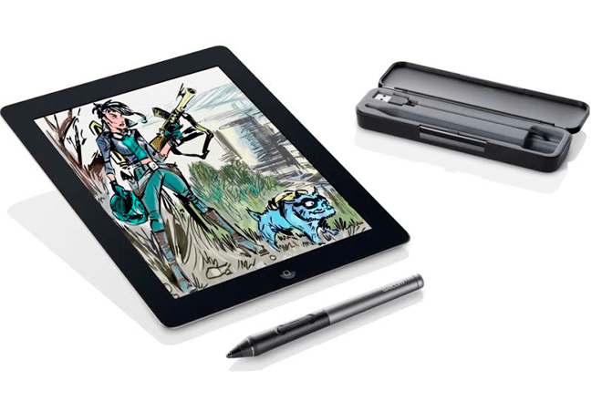 """ifa-2014-Wacom-Intuos-Creative-Stylus-2 """"width ="""" 660 """"height ="""" 440 """"srcset ="""" https://i2.wp.com/www.giztab.com/wp-content/uploads/2014 /09/ifa-2014-Wacom-Intuos-Creative-Stylus-2.png?w=660&ssl=1 660w, https://i2.wp.com/www.giztab.com/wp-content/uploads/2014/ 09 / ifa-2014-Wacom-Intuos-Creative-Stylus-2.png? Resize = 300% 2C200 & ssl = 1 300w """"sizes ="""" (max-width: 660px) 100vw, 660px """"data-recalc-dims ="""" 1 """" /></p> <p>It has been endowed with a fine and solid tip to increase visibility, as well as to allow complex details to be worked on sketches, drawings and paintings on the iPad. It has USB charging options, curved shape for convenience of use and ergonomic side button. It offers 2,048 levels of pressure sensitivity and Bluetooth 4.0 connection. It has been made of aluminum with soft touch silicone grip.</p><div class='code-block code-block-7' style='margin: 8px auto; text-align: center; display: block; clear: both;'> <div data-ad="""