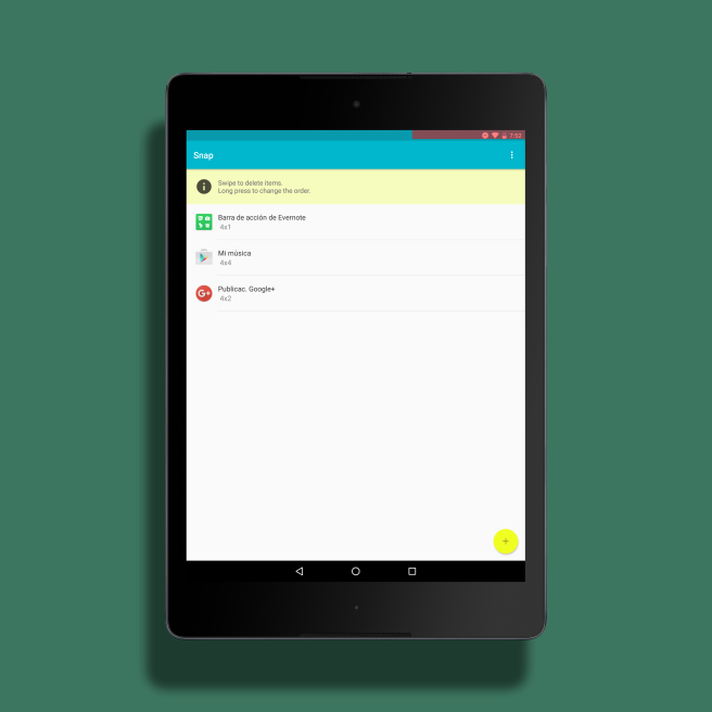 Snap Android add-ons list