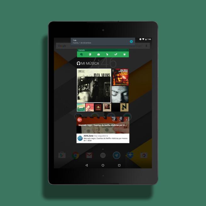 Snap Android desktop Nexus 9