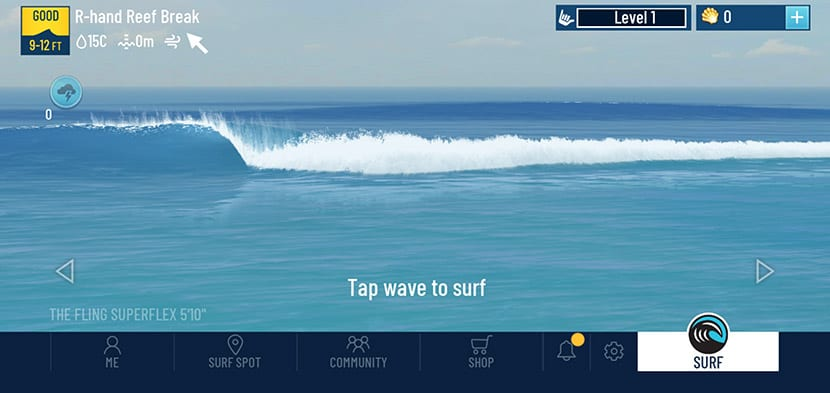 To surf