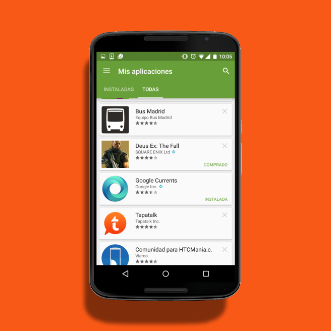 All apps account Play Store