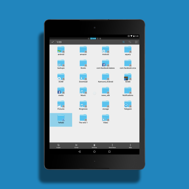 Android system folders cleaning