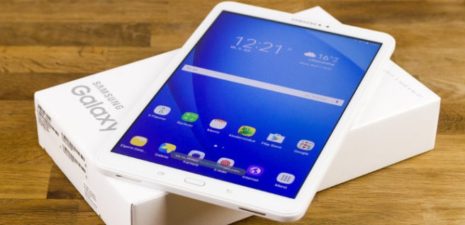 "Tablet Samsun Galaxy Tab A 2016 with its box ""width ="" 656 ""height ="" 318 ""srcset ="" https://tabletzona.es/app/uploads/2017/02/Galaxy-Tab-A-10.1-precios-tablet -656x318.jpg 656w, https://tabletzona.es/app/uploads/2017/02/Galaxy-Tab-A-10.1-precios-tablet-300x146.jpg 300w, https://tabletzona.es/app/uploads /2017/02/Galaxy-Tab-A-10.1-precios-tablet-634x308.jpg 634w, https://tabletzona.es/app/uploads/2017/02/Galaxy-Tab-A-10.1-precios-tablet. jpg 690w ""sizes ="" (max-width: 656px) 100vw, 656px"